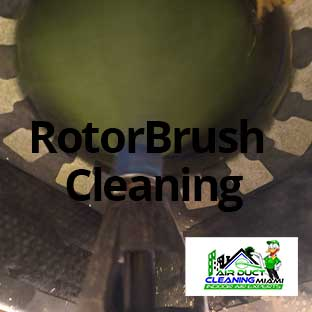 air duct brush cleaning